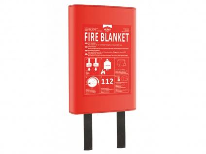 Feuerlöschdecke 120x120cm mit Hardcoverhülle - Fettbrandlöscher für die Küche
