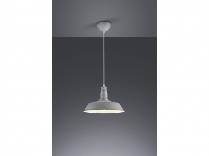 Retro LED Pendelleuchte Ø31cm in Betonfarben Hängelampe für Esszimmer Flurlampen