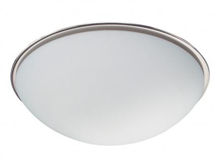 TRIO Deckenleuchte, 1 x E27, Ø 30cm, Glas opal matt, Nickel matt