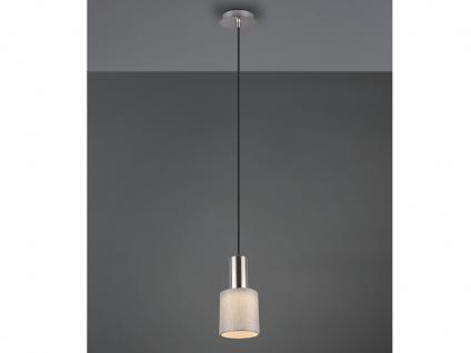 Pendelleuchte mit Stoffschirm Rund Grau - Hängeleuchten für den Esstisch Lampen