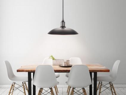 Hängelampe 32cm Industrie Look mit Filament LED, Metall schwarz bronze, Pendel - Vorschau 5