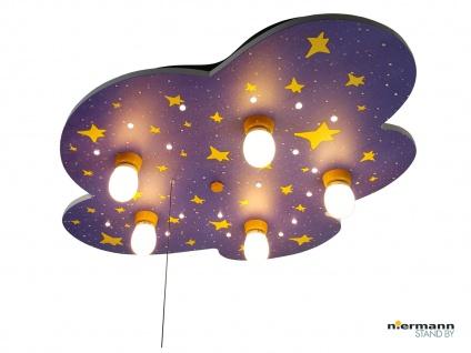 Deckenlampe für Kinderzimmer NACHTHIMMEL Zugschalter für LED Schlummerlicht