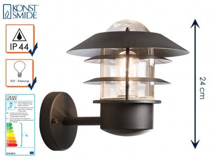 Wandleuchte Wandlampe MODENA Aluminium schwarz, E27, Höhe 24 cm, IP44