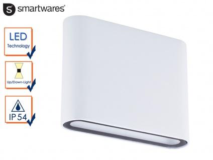 LED Wandleuchte Uplight Downlight in weiß, 2x 4, 5 Watt, Wandlampe außen / innen