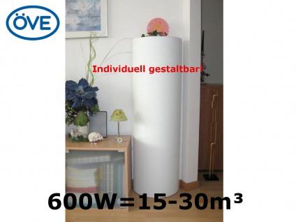 600W Infrarot Säulenheizung Heizsäule bemalbar 120cm, Vitalheizung