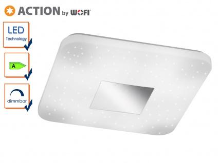 Quadratische LED Deckenleuchte mit Sternhimmel-Effekt, Deckenlampe Schlafzimmer