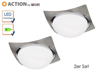 2er Set LED Deckenleuchte KEIRA, 28, 5x28, 5 cm, LED Deckenlampen Deckenleuchte