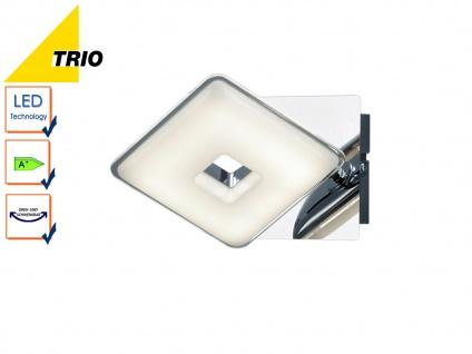 LED Wandleuchte Wandlampe PONTIUS, Chromfarbig, Acryl weiß, 1x 3, 8W LED, Trio