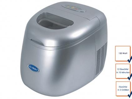 Gastro Eiswürfelmaschine, 12 Würfel/10min, Profi Eiswürfel Bereiter Ice Maker