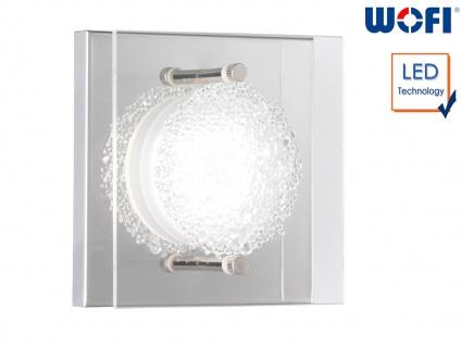LED Wandleuchte, Chorm mit Kristalloptik 11, 5 x 11, 5cm, Wandlampe Designerlampe