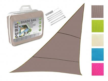 Sonnensegel Dreieck Braun 5m mit Stangenset für den Garten UV Sonnenschutzsegel
