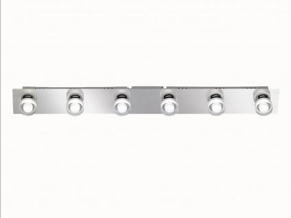 6-flammige LED Deckenleuchte 76, 5 cm, Chrom, Wofi-Leuchten