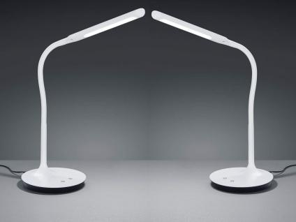2 dimmbare LED Tischleuchte mit Flexgelenk in weiß matt Lichtfarbe einstellbar
