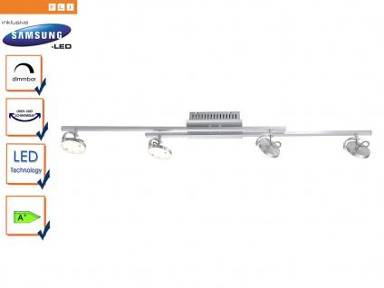 Dimmbare LED Deckenleuchte mit schwenkbaren Spots, FLI-Leuchten