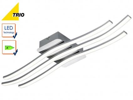 LED Deckenleuchte Deckenlampe CATOKI Chrom Breite 60 cm 1x 24W SMD-LED