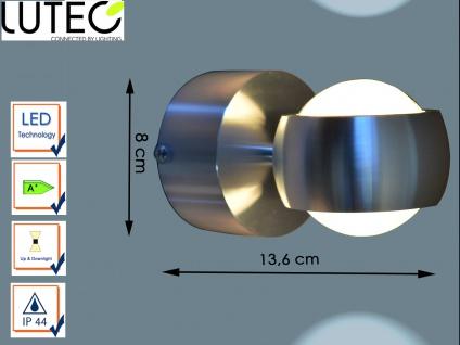 Design Außenwandleuchte Edelstahl LED H. 8cm IP44 Up- & Downlight Wegeleuchten