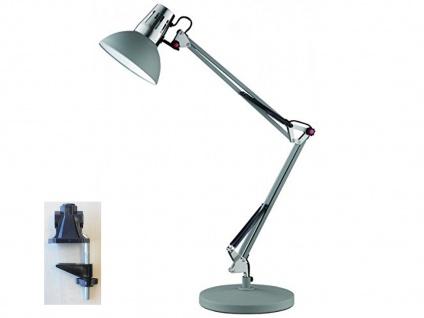LED Schreibtischlampe Klemmleuchte grau, Leselampe Büro Schreibtisch Wohnraum