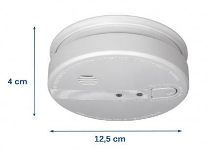 Rauchmelder vernetzbar, 230V + Backup-Batterie, 85dB koppelbarer Feuermelder - Vorschau 3
