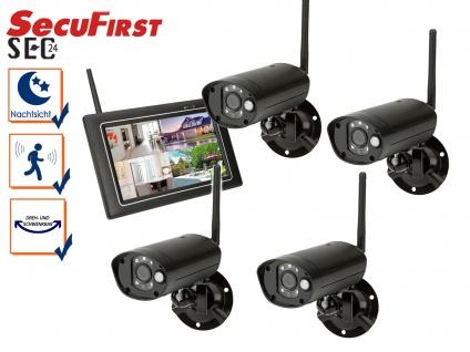 Sicherheitssystem mit Touchscreen und 4 Nachtsicht Kameras, Überwachungs App