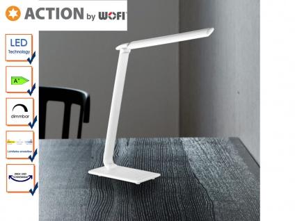 LED Schreibtischlampe weiß, Dimmer, USB Anschluss, Action by Wofi