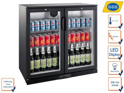 Gastro Getränkekühlschrank 208L, Flaschenkühlschrank Profi Kühlschrank