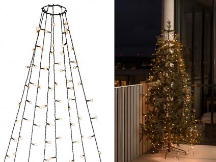 Lichterkette für Außen 240 bernsteinfarbene LED´s Weihnachtsbaum Beleuchtung