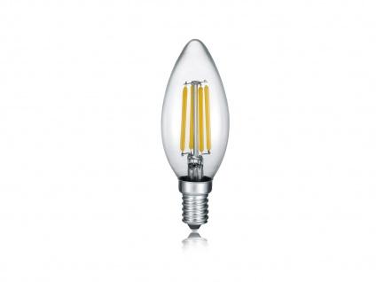 E14 LED Leuchtmittel mit Switch Dimmer, 4W, 470lm in Warmweiß, kerzenförmig Glas