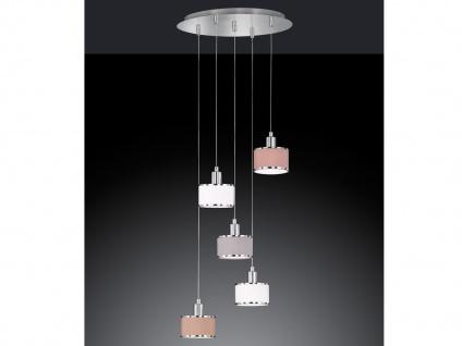 5 flammige LED Pendelleuchte mit Stoffschirm Hängeleuchte für den Esstisch Lampe