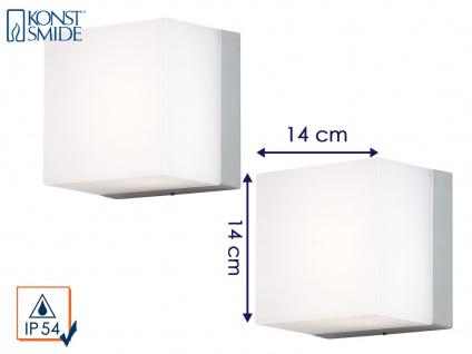 2er Set Konstsmide Außenwandleuchte SANREMO 14x14 cm, Lampe außen bruchsicher