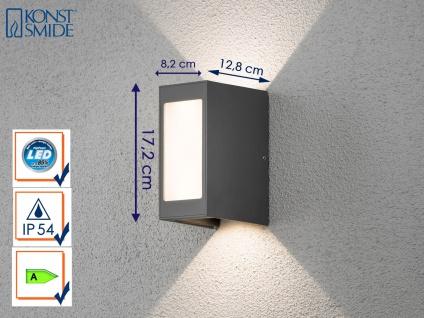 LED Außenwandleuchte Alu anthrazit UP/Down Light IP54 Außenleuchte Wegeleuchte