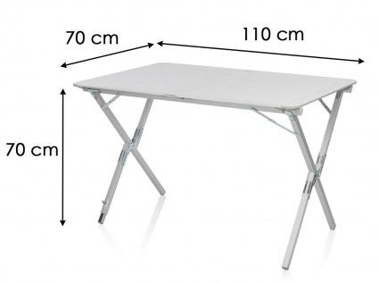 Stabiler Ausklapptisch Alu Rolltisch Campingtisch für 4 Personen kleines Packmaß - Vorschau 3