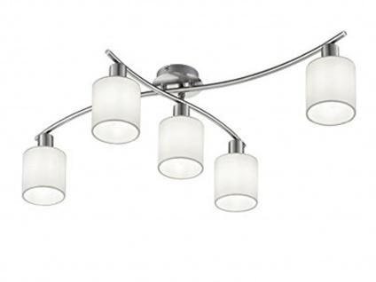 Deckenleuchte GARDA schwenkbar mit weißen Stoffschirmen und E14 LED, Deckenlampe - Vorschau 1