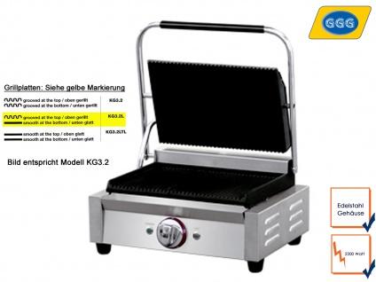 Profi Edelstahl Kontaktgrill glatt/gerillt 2200W, Gastro Elektro Multi Grill