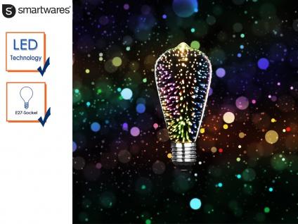 LED Deko Leuchtmittel ST64, E27, Stimmungsleuchtmittel 3D-Effekt, Partylicht