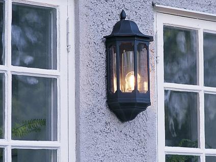 2er Set Außenwandleuchte Alu schwarz, E27, Wandleuchte Hauswand Terrasse Lampe - Vorschau 3