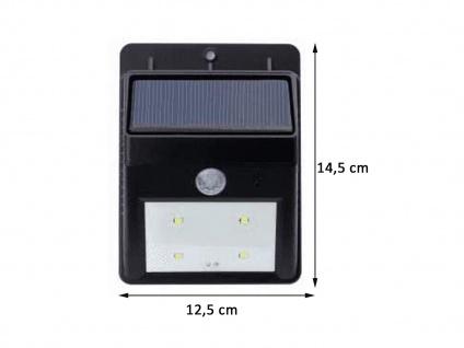 Solar LED Treppenlicht Orientierungslicht für Außenbereich, 14, 5x12, 5cm, IP44