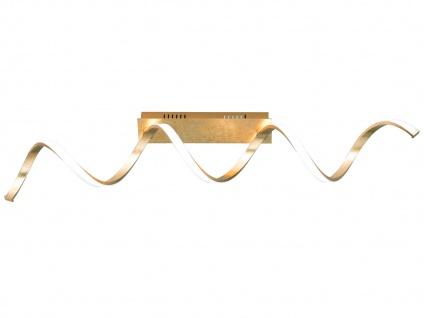 Edle LED Deckenleuchte L. 99cm goldfarben 32W dimmbar Wohnraumleuchte Bürolampe
