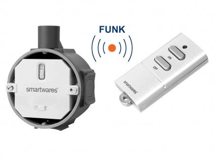 Funk Schalter Set = Funk Einbauschalter + Mini Fernbedienung bis 1000 Watt