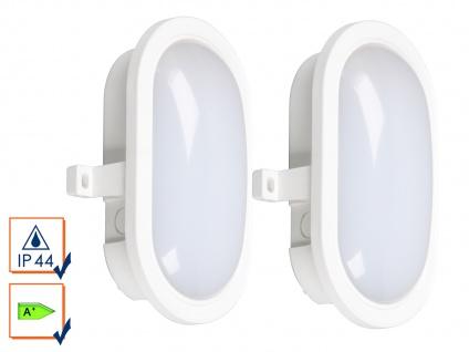 2er-Set LED Wandleuchte Außenleuchten weiß, 450 Lumen, 4000 K