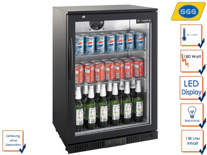 Gastro Getränkekühlschrank 138L, Flaschenkühlschrank Kühlschrank Profi