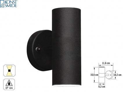 Aluminium Up-Down Wandleuchte MODENA schwarz, GU10, Höhe 17 cm, IP23