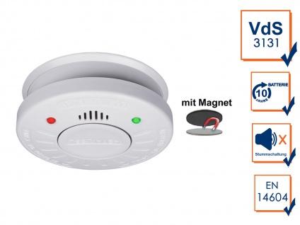 ELRO Rauchmelder 10 Jahre Batterie VdS Zertifiziert SET mit Magnethalterung - Vorschau 1