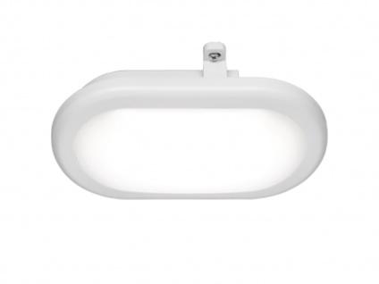 LED Outdoor Terrassen Deckenleuchte Wandleuchte Kellerleuchte Acryl Weiß IP54