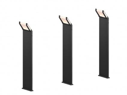 LED Stehleuchten 3er SET für draußen, moderne Außenlampen mit Dämmerungssensor