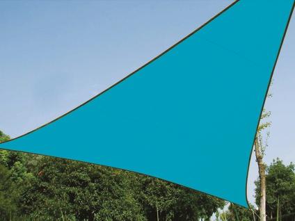 Sonnensegel Dreieckig Blau 3, 6m mit Stangenset für den Garten Sonnenschutzsegel - Vorschau 3