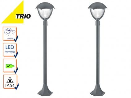 2er Set Trio LED Wegeleuchten Pollerleuchten GRACHT anthrazit, Außenbeleuchtung