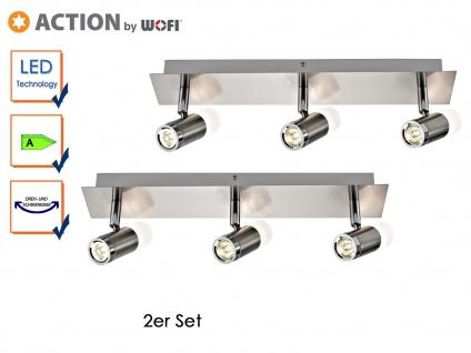 2er Set LED Deckenleucthe HUELVA, 3-flammig, Deckenbalken Spotleiste Deckenlicht