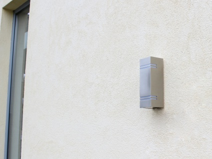 Edelstahl LED Außenwandleuchte H. 25cm IP44 Up & Downlight Fassadenbeleuchtung - Vorschau 4