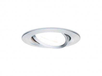 GU10 LED Einbaustrahler Decke schwenkbar dimmbar rund 68mm Eisen gebürstet 6, 5W