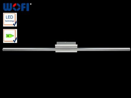 LED Deckenleuchte 120 cm lang, Zierblende Chrom, Wofi-Leuchten